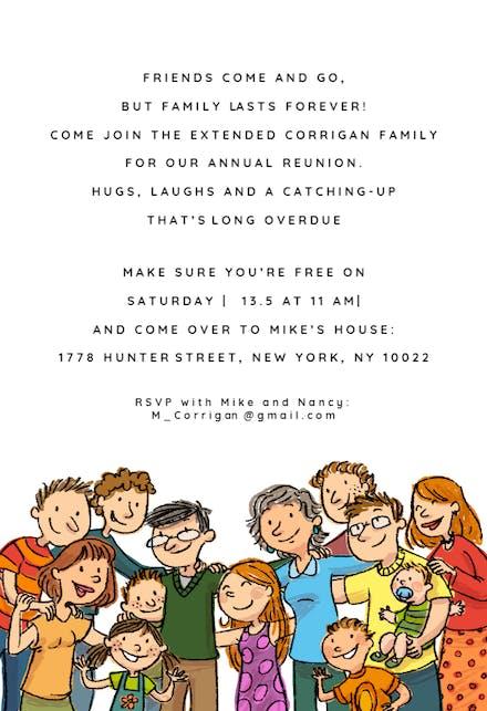 Invitaciones Para Reuniones Familiares Gratis Greetings Island