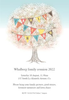 Family Tree - Family Reunion Invitation Template