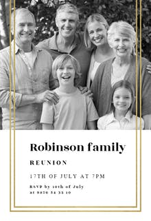 Fancy Frame - Family Reunion Invitation