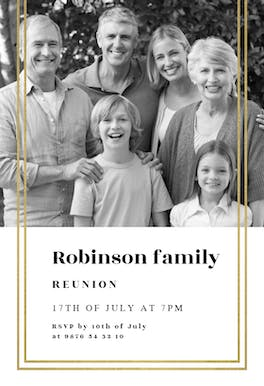 Fancy Frame - Family Reunion Invitation