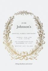 Golden Wreath - Family Reunion Invitation