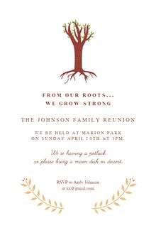Our Roots - Family Reunion Invitation