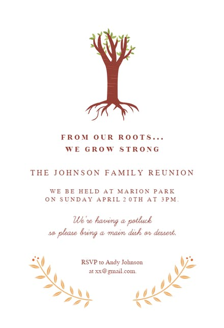 Family Reunion Invitation Templates Free Greetings Island