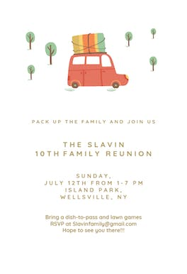 Pack up The Family - Family Reunion Invitation