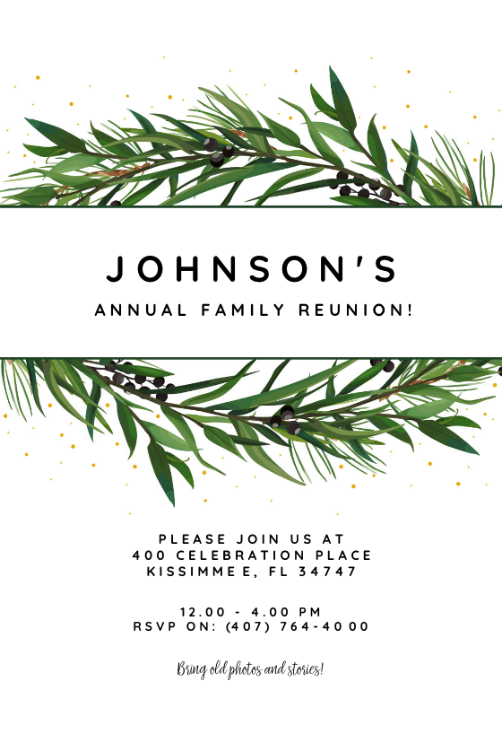 graphic about Free Printable Family Reunion Invitations called Relatives Reunion Invitation Templates (No cost) Greetings Island