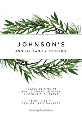 Winter Wreath - Family Reunion Invitation