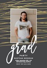 Unparalleled lines - Graduation Party Invitation