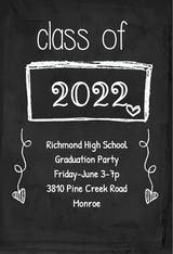 Black Board - Graduation Party Invitation