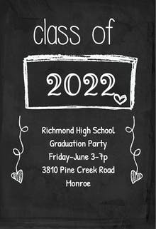 Black Board - Invitación de Graduación