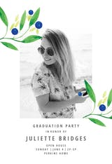 Blueberry fields - Graduation Party Invitation