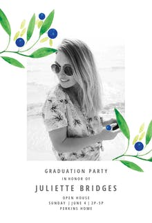 Blueberry fields - Graduation Party Invitation Template
