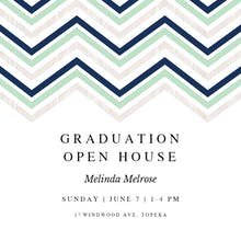 Chevron Points - Graduation Party Invitation