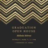 Chevron Points - Graduation Party Invitation