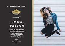 Golden line - Graduation Party Invitation
