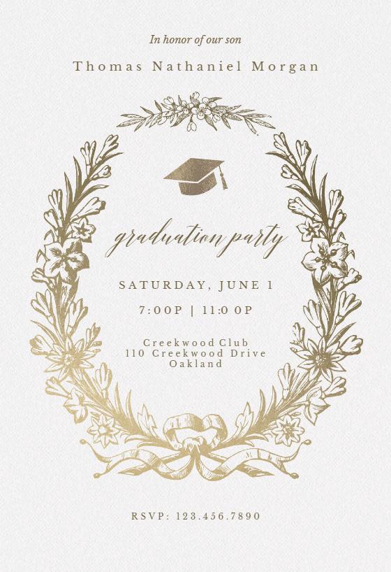 photograph regarding Free Printable Graduation Invitations titled Commencement Bash Invitation Templates (Totally free) Greetings Island