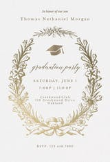 Golden Wreath - Graduation Party Invitation
