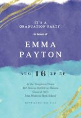 Happy color strokes - Graduation Party Invitation