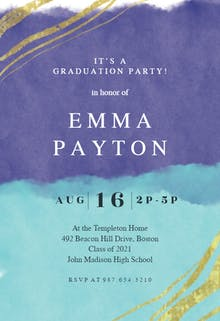 Happy color strokes - Graduation Party Invitation