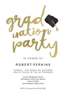 Hats off - Graduation Party Invitation