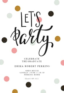 Lets Party - Graduation Party Invitation