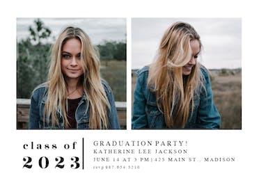 Minimal - Graduation Party Invitation