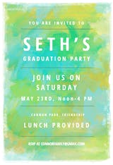 Mixed Colors - Graduation Party Invitation
