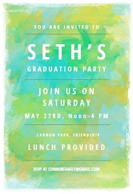 Mixed Colors - Graduation Party Invitation