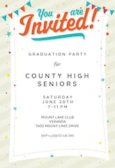 Party Time - Graduation Party Invitation