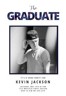 Preppy - Graduation Party Invitation