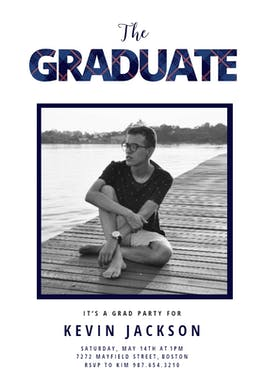 Preppy - Graduation Party Invitation
