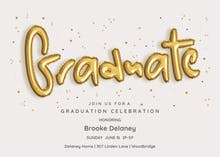Rising Balloons - Graduation Party Invitation