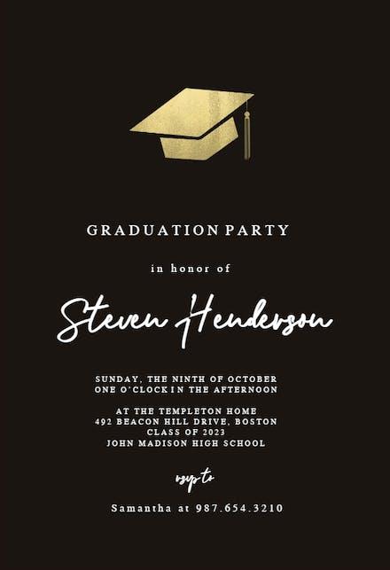 Graduation Party Invitation Templates