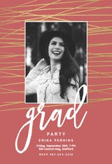 Unparalleled lines - Graduation Party Invitation