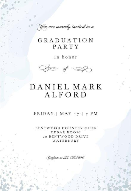 Invitaciones De Graduación Gratis Greetings Island