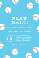 Baseball Birthday - sports & games Invitation