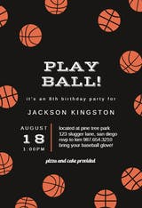 Basketball Birthday - sports & games Invitation