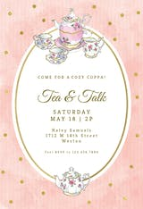 Classic tea set - Party Invitation