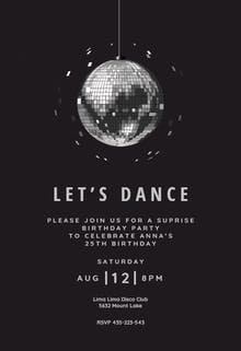 Disco ball - Party Invitation