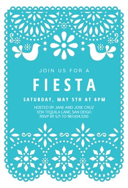 Fiesta Party - Birthday Invitation