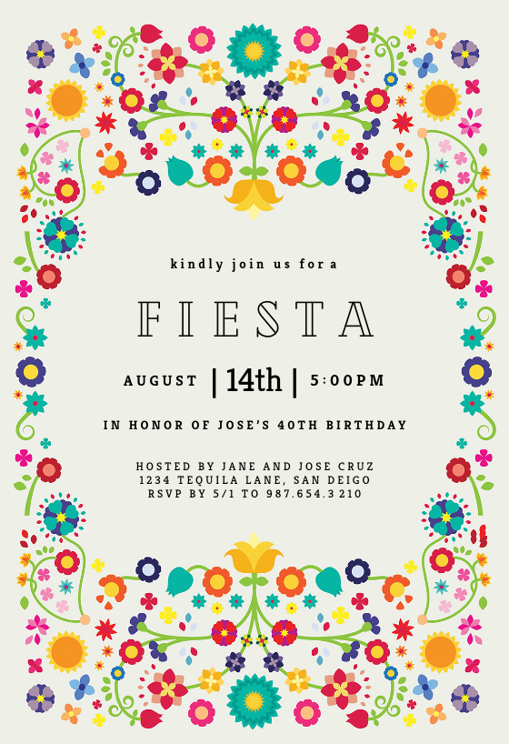 photo relating to Free Printable Party Invitations identified as Occasion Invitation Templates (Totally free) Greetings Island