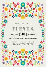 Floral Fiesta - Party Invitation