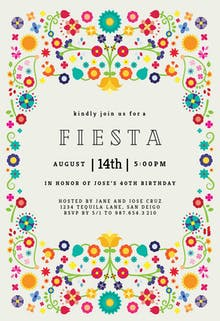 Floral Fiesta - Birthday Invitation