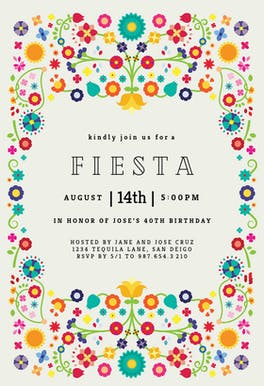 Invitation Template - Floral Fiesta
