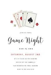 Poker Game Night - sports & games Invitation