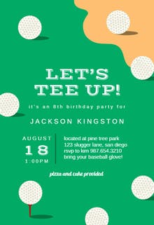 Golf Party - sports & games Invitation