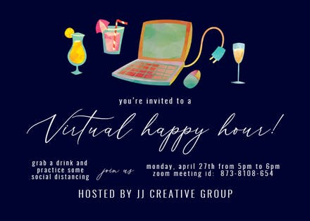 Happy Hour Party Invitation Template Free Greetings Island