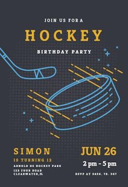 Hockey stars - Birthday Invitation