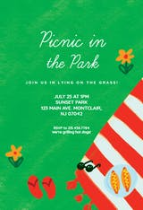 Picnic chill - Party Invitation