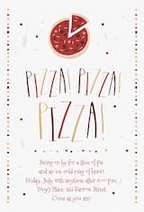 Pizza Pizza Pizza - Invitación De Fiesta