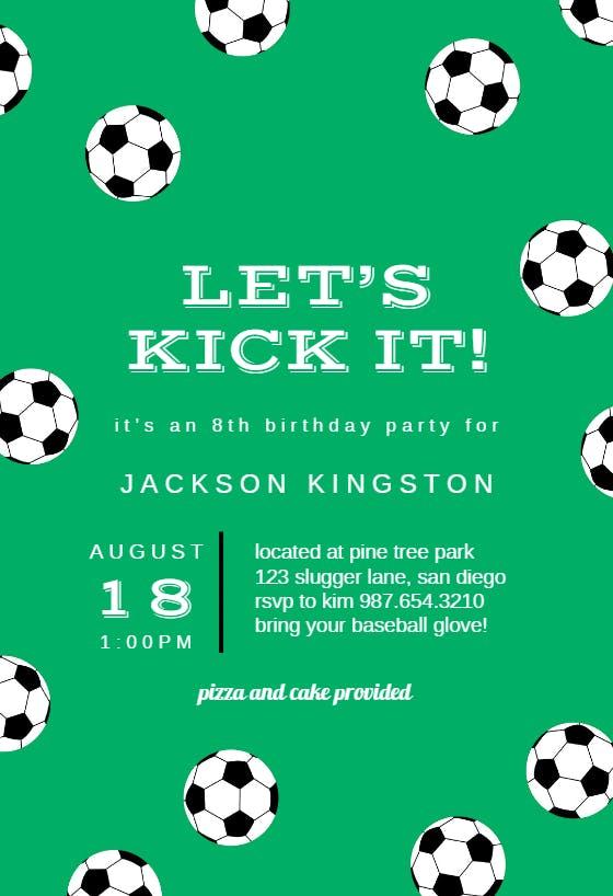 Custom Invitations  Football  Party Invite  Sports Party